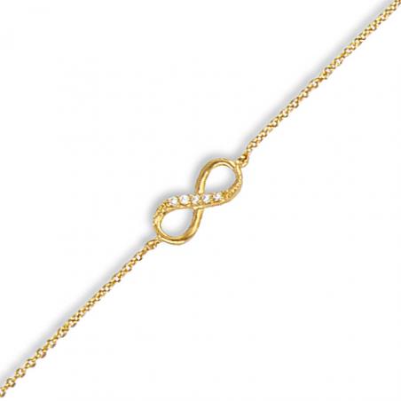 Bracelet plaqué or oxyde en 18 cm mise à longueur 16 cm