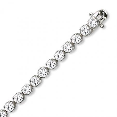 Bracelet Argent et oxyde blanc 18,5cm