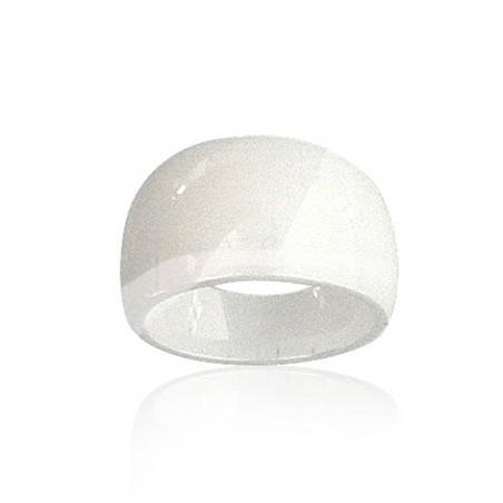 Bague céramique blanche en T50 à 60 de 2 en 2