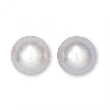 Boucle d'oreille plaqué or perle imitation Ø12mm