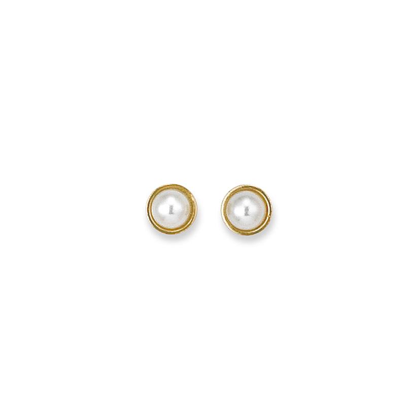 boucle d 39 oreille plaqu or perle sainte foy bijoux. Black Bedroom Furniture Sets. Home Design Ideas