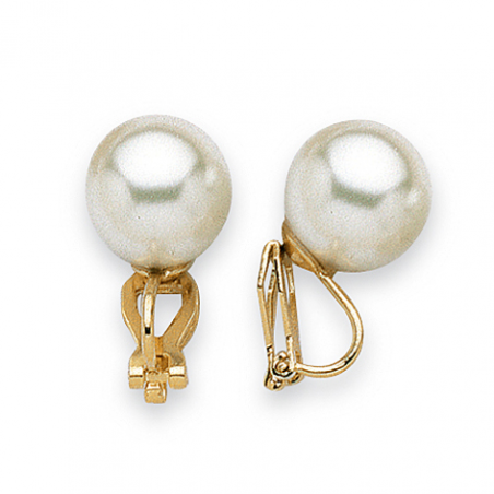 Clip's plaqué or perle imitation