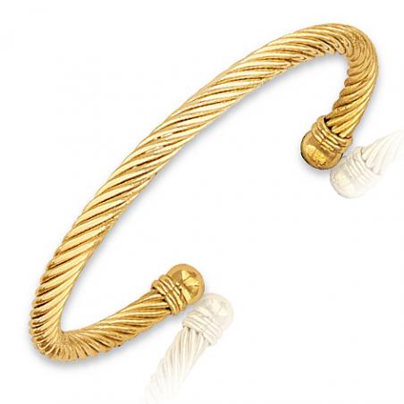 Bracelet plaqué or  rigide