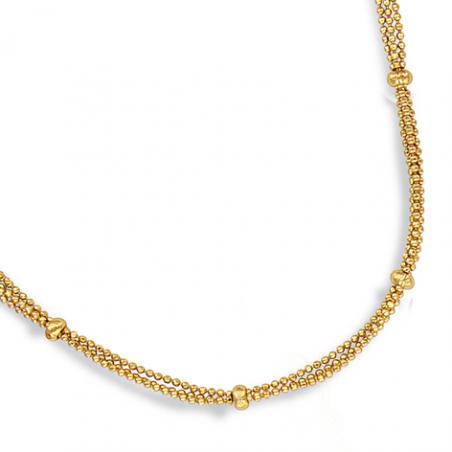 Collier plaqué or  en 42 cm