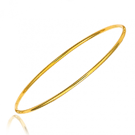 Bracelet plaqué or  rigide Ø65
