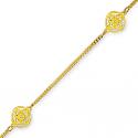 Bracelet plaqué or en 18 cm