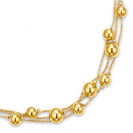 Collier plaqué or  en 45 cm