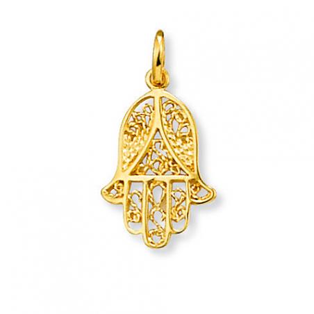 Médaille plaqué or main de Fatma