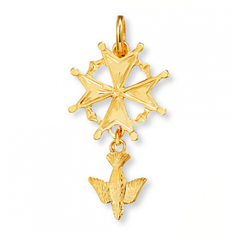 Croix plaqué or Huguenotte