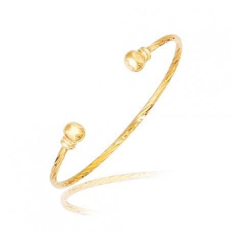Bracelet plaqué or  rigide Ø45