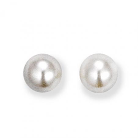 Boucles d'oreilles Argent perles imitation blanches