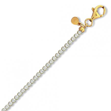 Bracelet argent doré oxyde en 18 cm