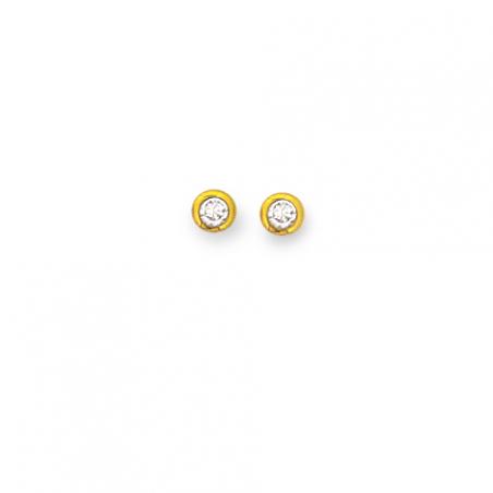 Boucle d'oreille plaqué or oxyde