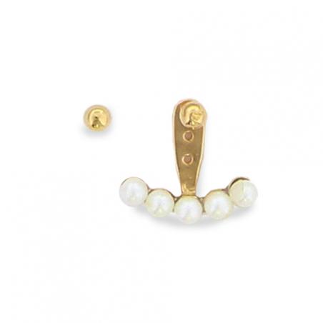 Boucles d'oreilles plaqué or perle