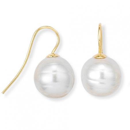 Boucle d'oreille plaqué or perle