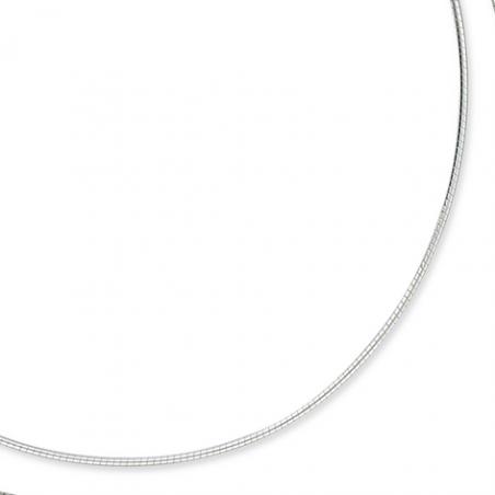 Collier cable Argent 40cm