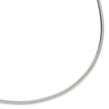 Collier cable Argent 42cm
