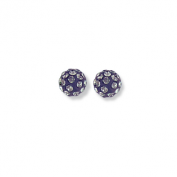 Bijoux d'oreille argent cristal