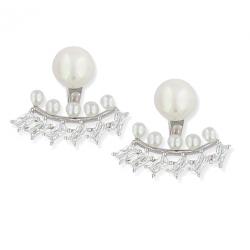 Bijoux d'oreille argent perle