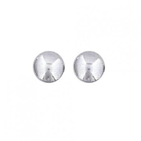 Boucle d'oreille argent rhodié gris