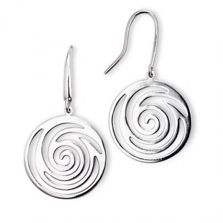 Boucles d'oreilles Argent pendant spirale