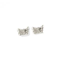 Boucle d'oreille argent papillon