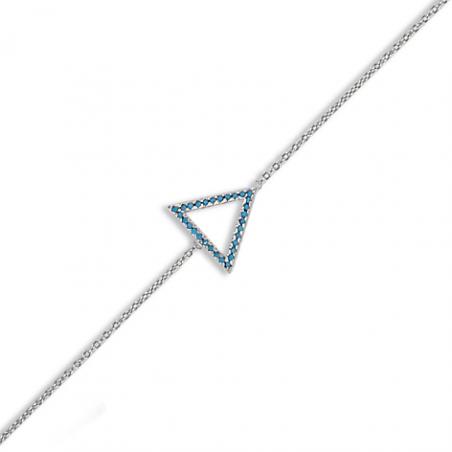 Bracelet argent oxyde turquoise en 18 cm (mise en longueur 16 cm)