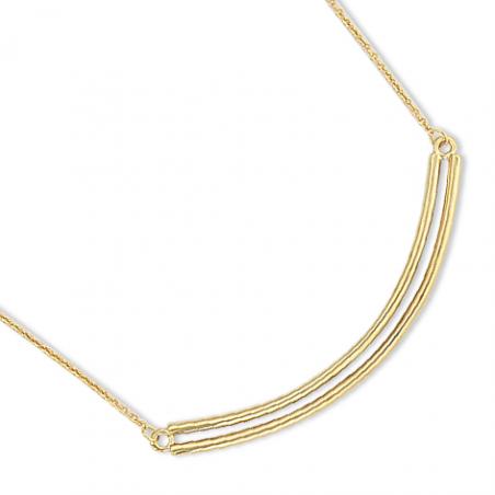Collier plaqué or en 40 cm (mise en longueur 42/44 cm)