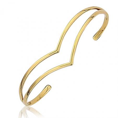 Bracelet rigide plaqué or