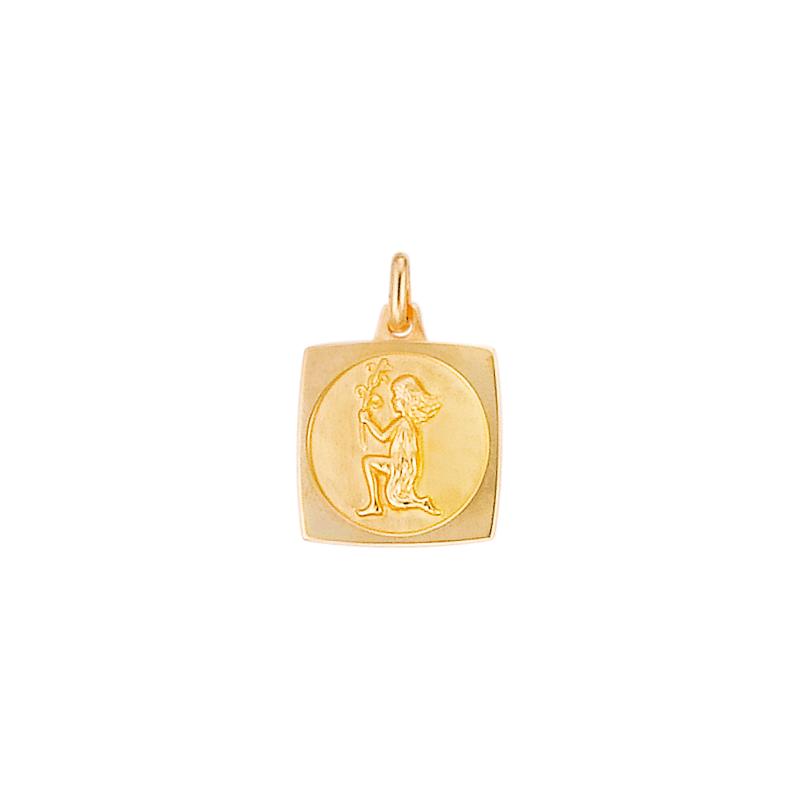 Médaille plaqué or signe zodiacal