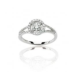 Bague or gris / Diamant 0.25 ct T50 à T60 (2en2)