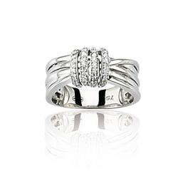 Bague or gris / Diamant 0.22 ct