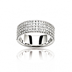 Bague or gris / Diamant 1 ct