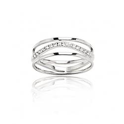 Bague or gris / Diamant 0.15 ct