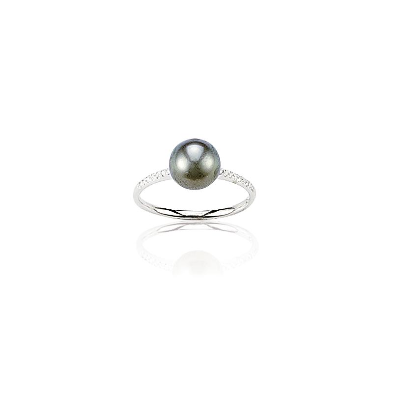 bague or perle de tahiti et diamants