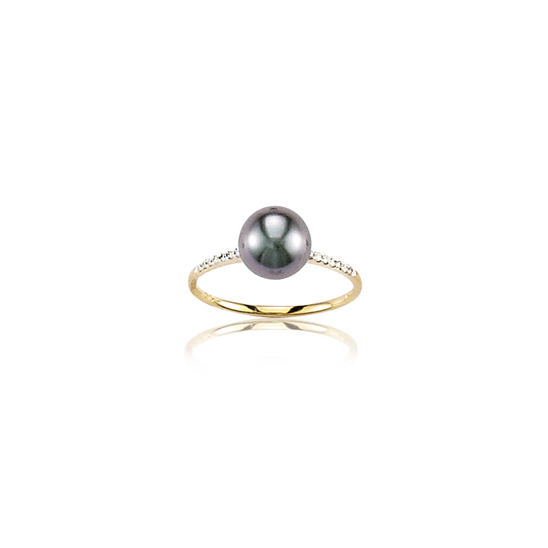 bague diamant et perle de tahiti