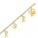 Bracelet or en 19 cm