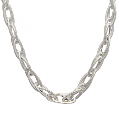 Collier argent maille ovale