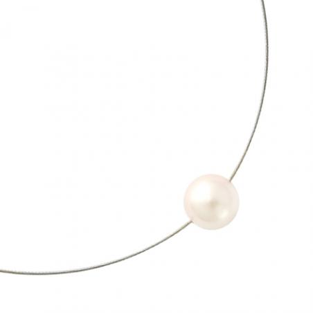 Collier fil nylon perle d'imitation