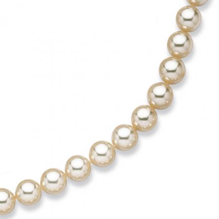 Collier perles de Majorque imitation  blanche 40cm