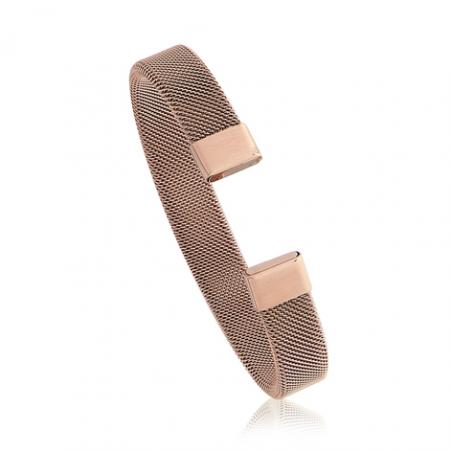 Bracelet rigide acier rose