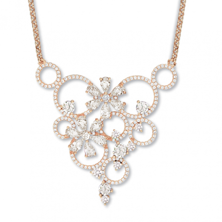 Collier plaqué or rose oxyde