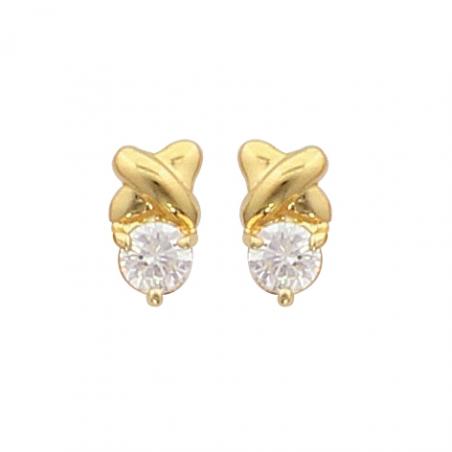 Boucles d'oreilles plaqué or oxyde