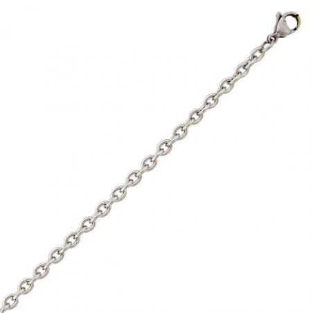 Chaine acier maille forçat 65 cm