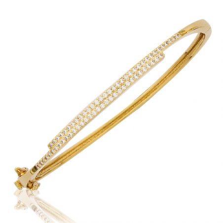 Bracelet plaqué or oxyde