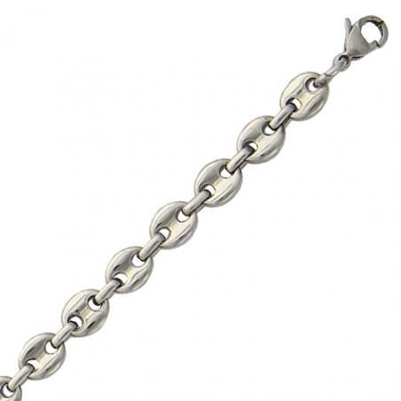 Bracelet acier grain de café en 21cm