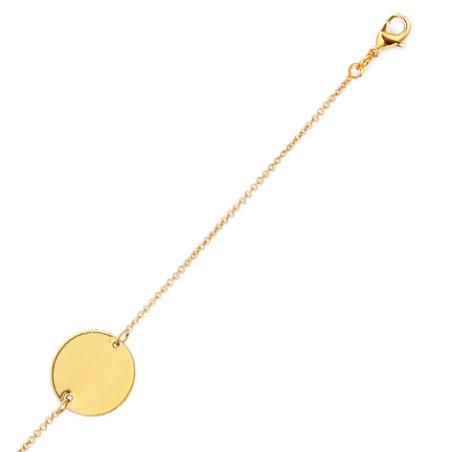 Bracelet plaqué or rond
