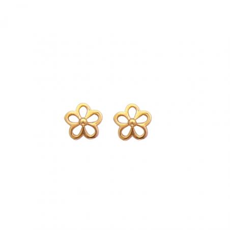 Boucles d'oreilles enfant plaqué or