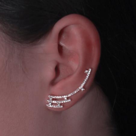 Boucles d'oreilles contour plaqué or oxyde