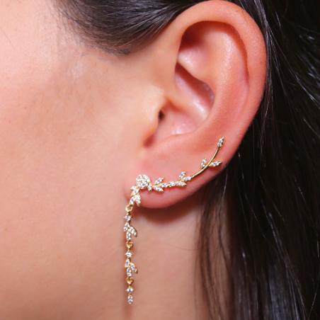 Bijoux d'oreilles contour plaqué or oxyde